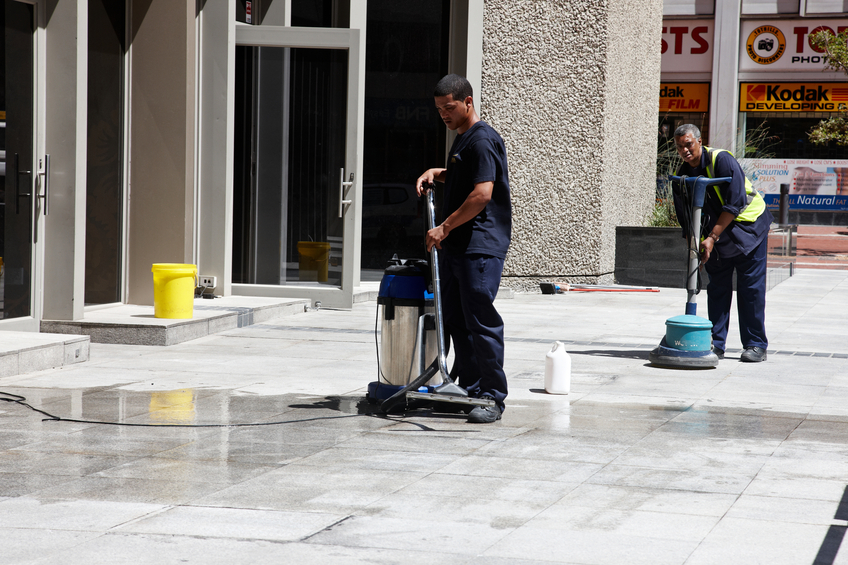Tile and Grout Cleaning for a commercial property in Richmond Hill